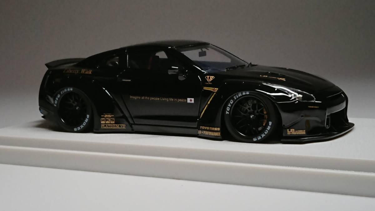 メイクアップ直販 アイドロン 1/43 LB☆WORKS R35 GT-R ダックテールver. Black_画像4