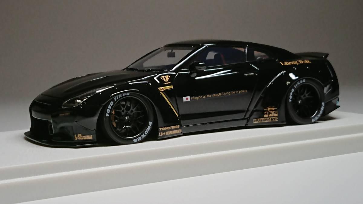 メイクアップ直販 アイドロン 1/43 LB☆WORKS R35 GT-R ダックテールver. Black_画像5