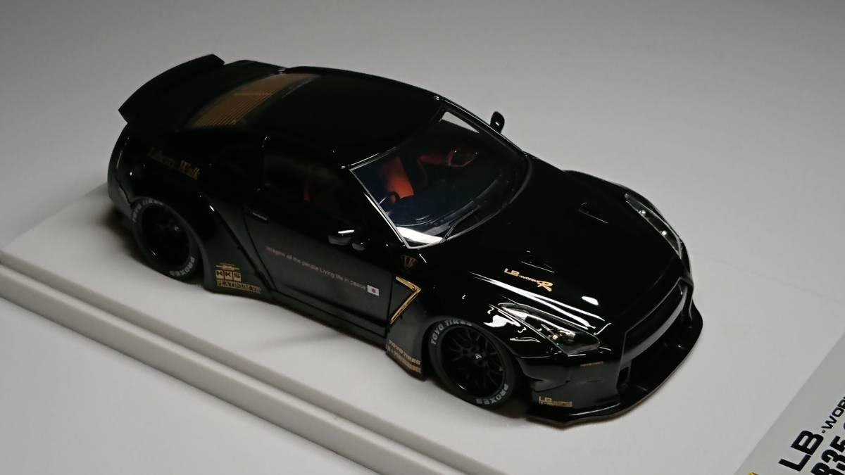 メイクアップ直販 アイドロン 1/43 LB☆WORKS R35 GT-R ダックテールver. Black_画像7
