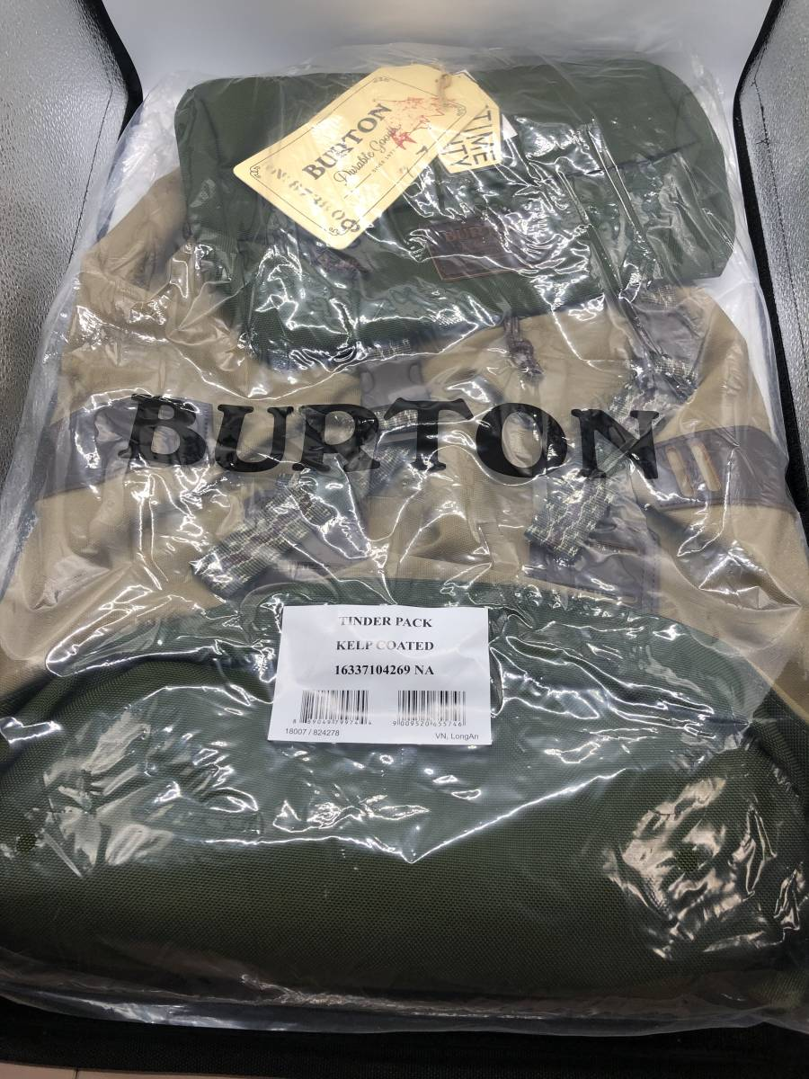 BURTON バートン リュック TINDER PACK 25L KELPCOATED 新品未使用 リュックサック カバン バックパック BACKPACK 送料無料