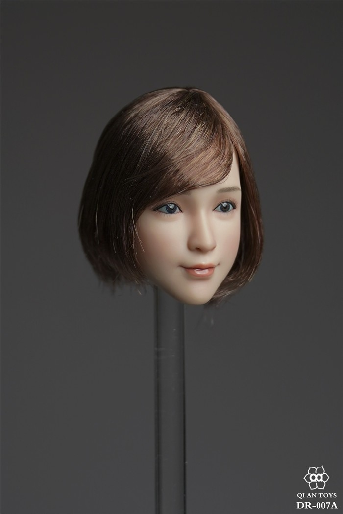 送料無料TBLeague1/6スケール女性素体専用ヘッドパーツ DR-007A 植毛_画像2