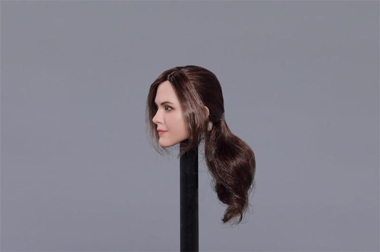 送料無料TBLeague1/6スケール女性素体専用ヘッドパーツ エマ・ワトソン似 植毛 E-C_画像3