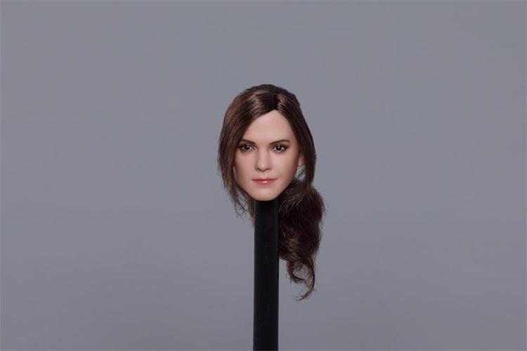 送料無料TBLeague1/6スケール女性素体専用ヘッドパーツ エマ・ワトソン似 植毛 E-C_画像2