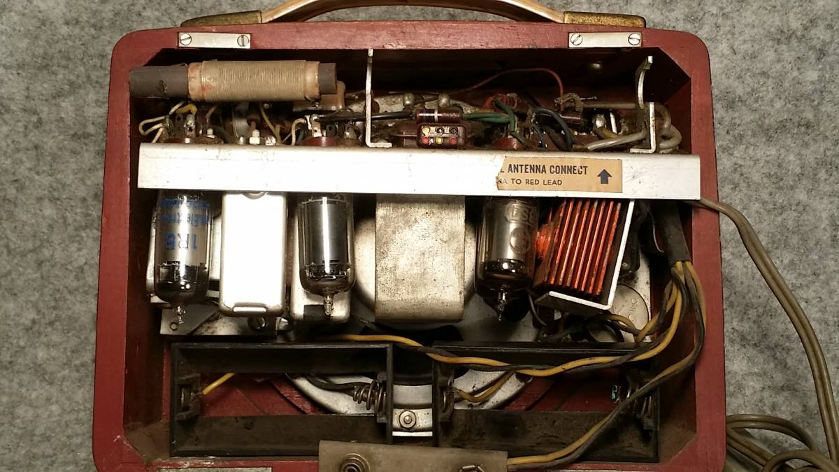 ジャンク品!Standard スタンダード Model RP-12 木製ポータブル4球受信機/真空管ラジオ_画像7