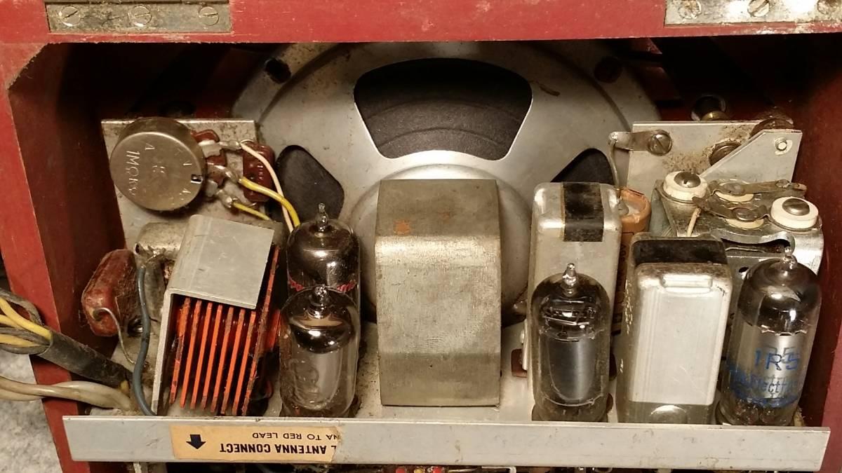 ジャンク品!Standard スタンダード Model RP-12 木製ポータブル4球受信機/真空管ラジオ_画像9