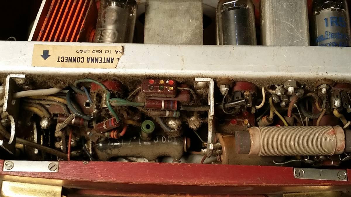 ジャンク品!Standard スタンダード Model RP-12 木製ポータブル4球受信機/真空管ラジオ_画像10