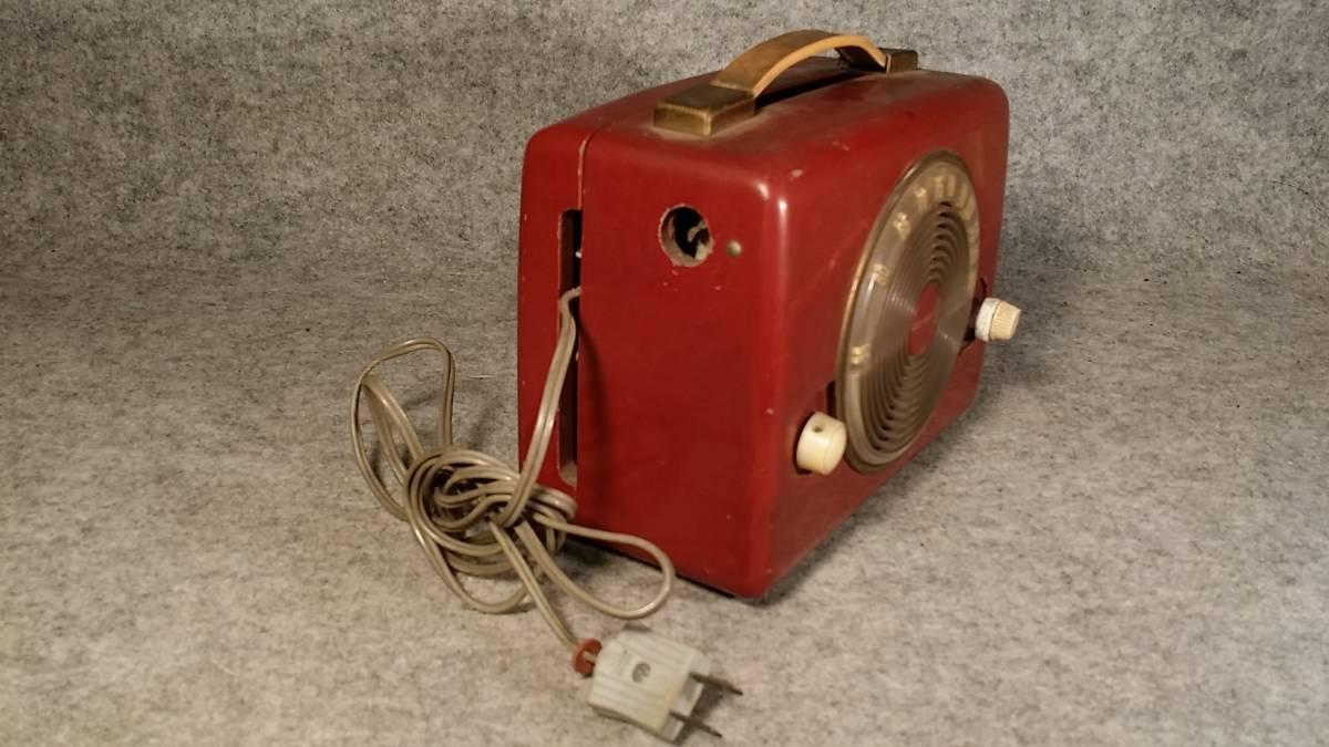 ジャンク品!Standard スタンダード Model RP-12 木製ポータブル4球受信機/真空管ラジオ_画像3