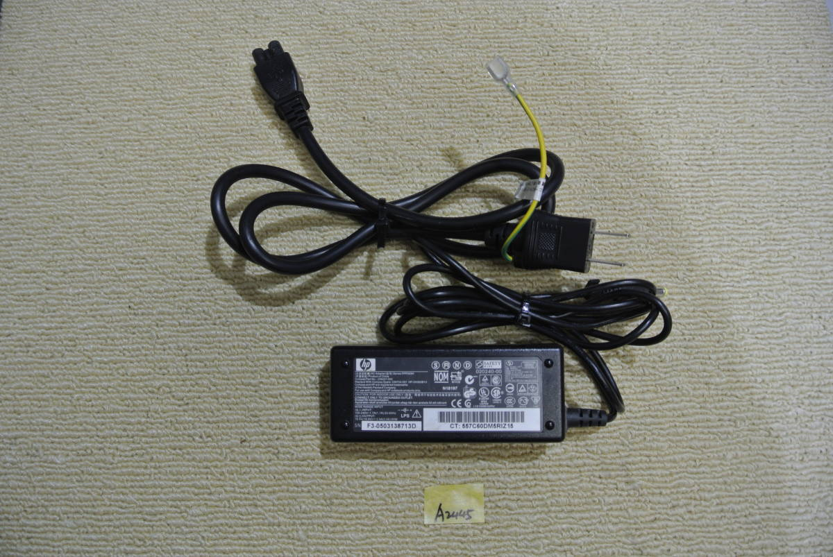 hp ACアダプター PPP009H 19.5V 3.5A 動作保証 A2445