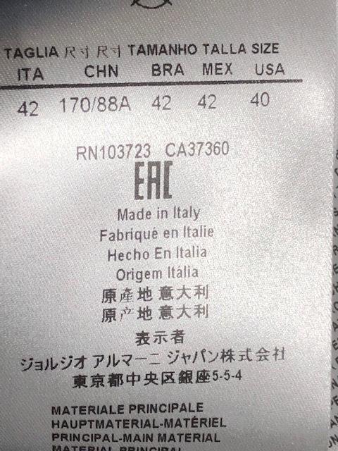 未使用!Fashion業界最高峰!最も権威GIORGIO ARMANI最高級オートクチュール上質レザー&オーガンジー素材ジャケット参考小売価格105万円!_IT42日本アルマーニ正規品Made in Italy