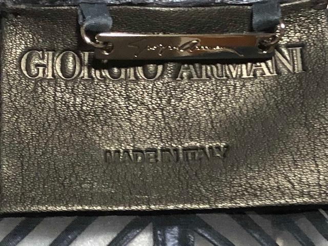未使用!Fashion業界最高峰!最も権威GIORGIO ARMANI最高級オートクチュール上質レザー&オーガンジー素材ジャケット参考小売価格105万円!_プレート&本革MADE IN ITALY GIORGIO ARMAN