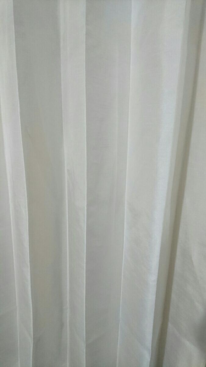 川島織物セルコン オーダーメイドカーテン 光沢 ホワイト スタンダード_画像3