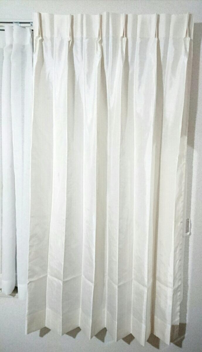 川島織物セルコン オーダーメイドカーテン 光沢 ホワイト スタンダード_画像2