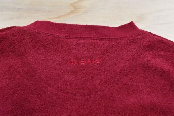 レアUSA古着 bolle GOLF ボレー パイル地 スウェットトレーナー sizeL 赤 刺繍ロゴ ゴルフ アメリカ アメカジ_画像5