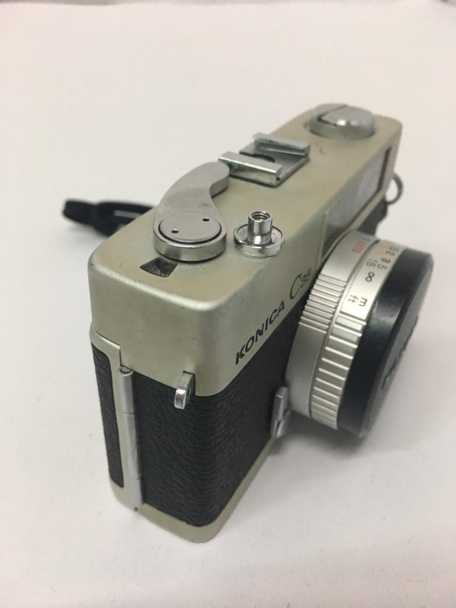 コニカ KONICA C35 フィルム カメラ レンジファインダー HEXANON f=38mm 1:2.8 コンパクト レトロ コレクション 動作未確認のためジャンク_画像3