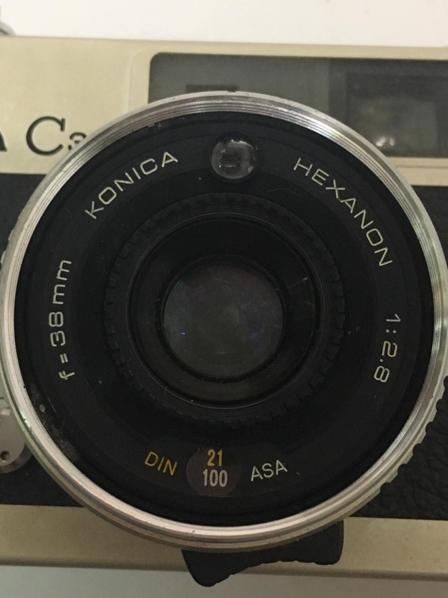コニカ KONICA C35 フィルム カメラ レンジファインダー HEXANON f=38mm 1:2.8 コンパクト レトロ コレクション 動作未確認のためジャンク_画像7