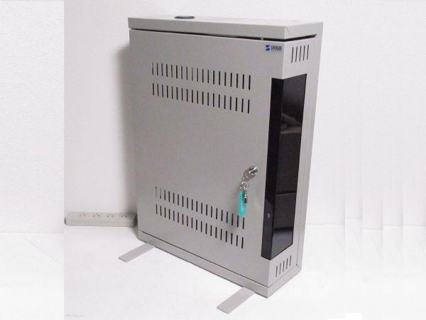 ◆大特価品◆ 簡易使用 傷が少ない絶品 サンワサプライ 【1U規格】 サーバーラック LANハブラック PCケースにも 鍵2本付属 定価5万円を格安_画像1