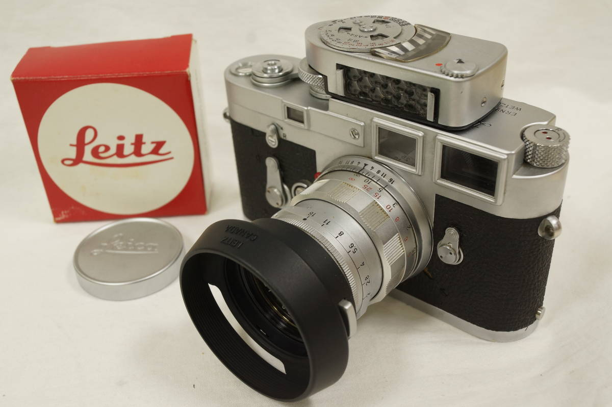 ♥♥#7099 【ライカファン】 Leica M3/ズミクロン 50mm/f2,メーター,フード,古いカタログ,革ケース ♥♥_画像2