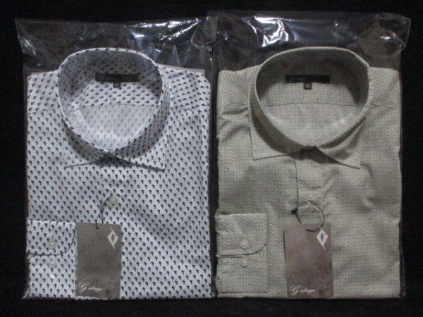 新品 2枚セット M★雑誌掲載 大人 紳士 ブランド G-STAGE メンズ 長袖 デザインシャツ Yシャツ ホワイト/白/オリーブ/ベージュ 系 BD-M-1_画像9