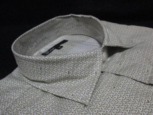 新品 2枚セット M★雑誌掲載 大人 紳士 ブランド G-STAGE メンズ 長袖 デザインシャツ Yシャツ ホワイト/白/オリーブ/ベージュ 系 BD-M-1_画像6