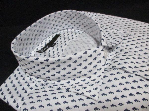 新品 2枚セット M★雑誌掲載 大人 紳士 ブランド G-STAGE メンズ 長袖 デザインシャツ Yシャツ ホワイト/白/オリーブ/ベージュ 系 BD-M-1_画像3