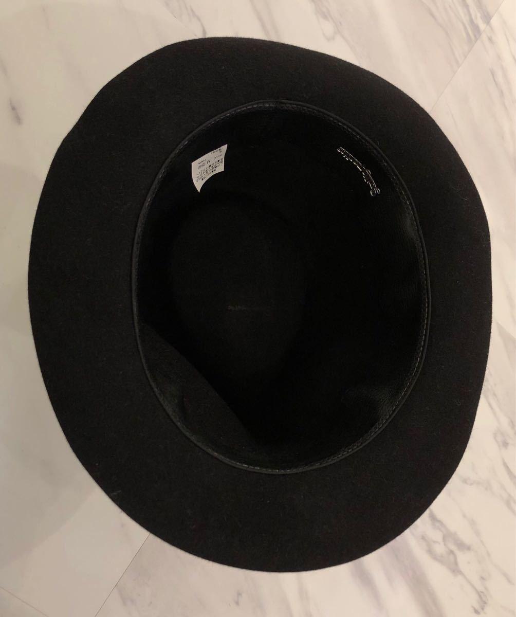 超 美品 希少 WACKO MARIA ラビットファー ウール ハット M 58cm ブラック ワコマリア 名作 人気 帽子 黒 兎毛 激レア_画像5