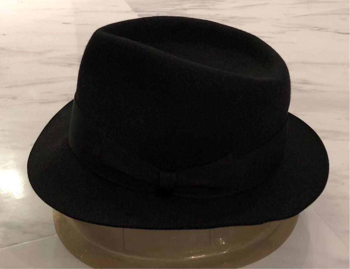 超 美品 希少 WACKO MARIA ラビットファー ウール ハット M 58cm ブラック ワコマリア 名作 人気 帽子 黒 兎毛 激レア_画像3