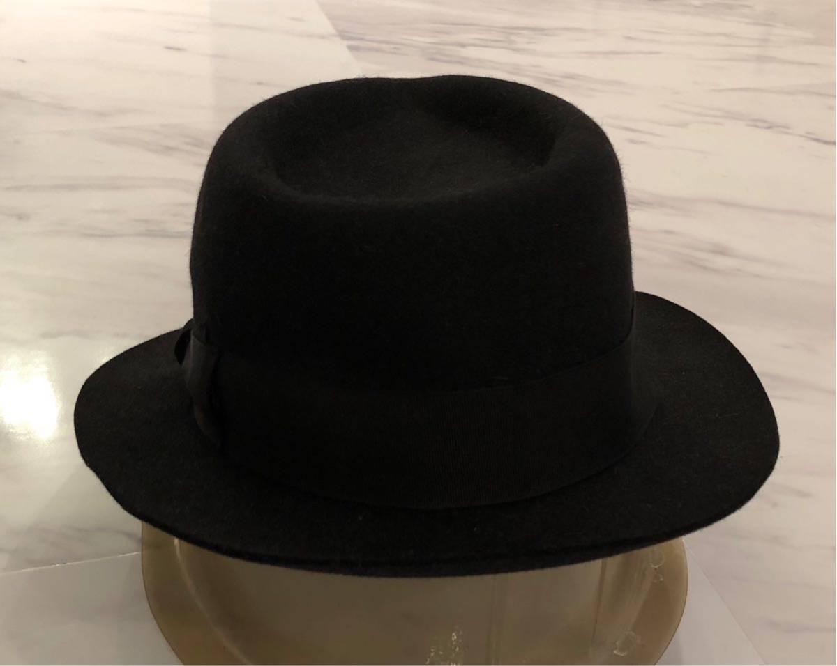 超 美品 希少 WACKO MARIA ラビットファー ウール ハット M 58cm ブラック ワコマリア 名作 人気 帽子 黒 兎毛 激レア_画像4