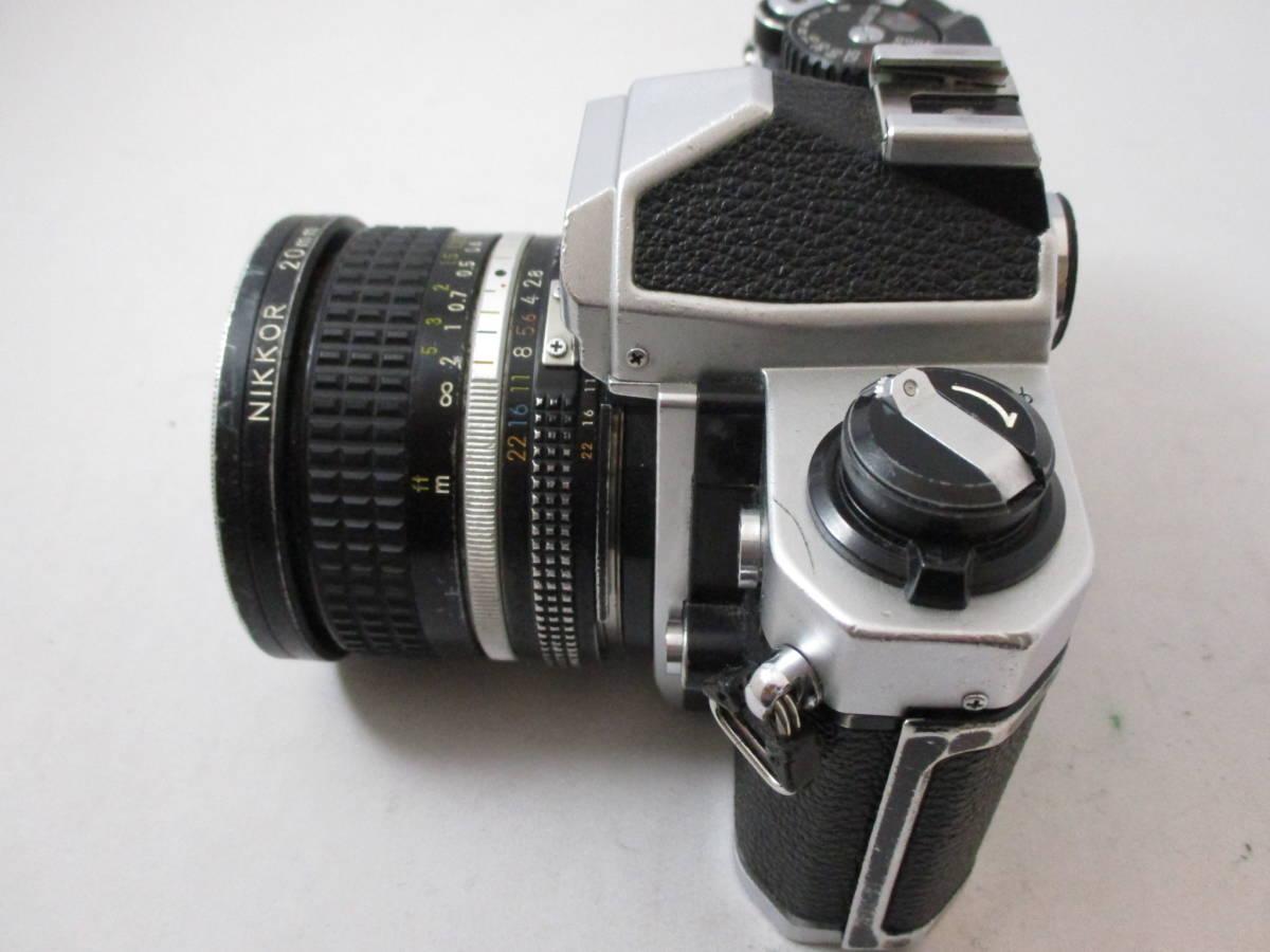 Nikon FM2 カメラ レンズ 20mm 1:2.8 付き  動作未確認 中古品_画像4