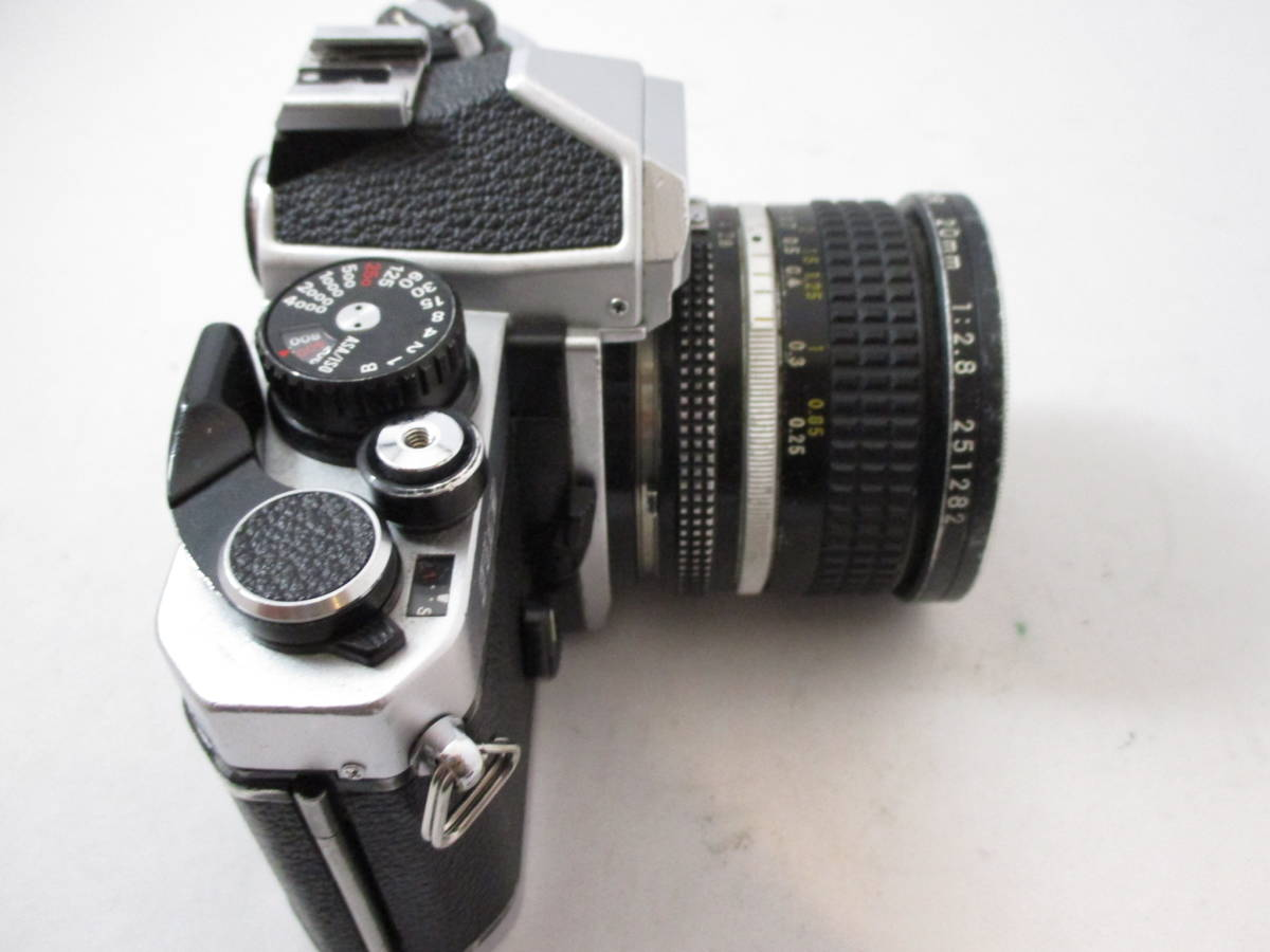 Nikon FM2 カメラ レンズ 20mm 1:2.8 付き  動作未確認 中古品_画像3