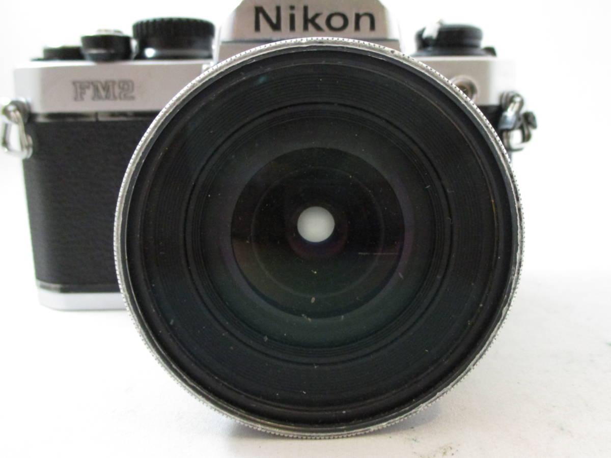 Nikon FM2 カメラ レンズ 20mm 1:2.8 付き  動作未確認 中古品_画像2