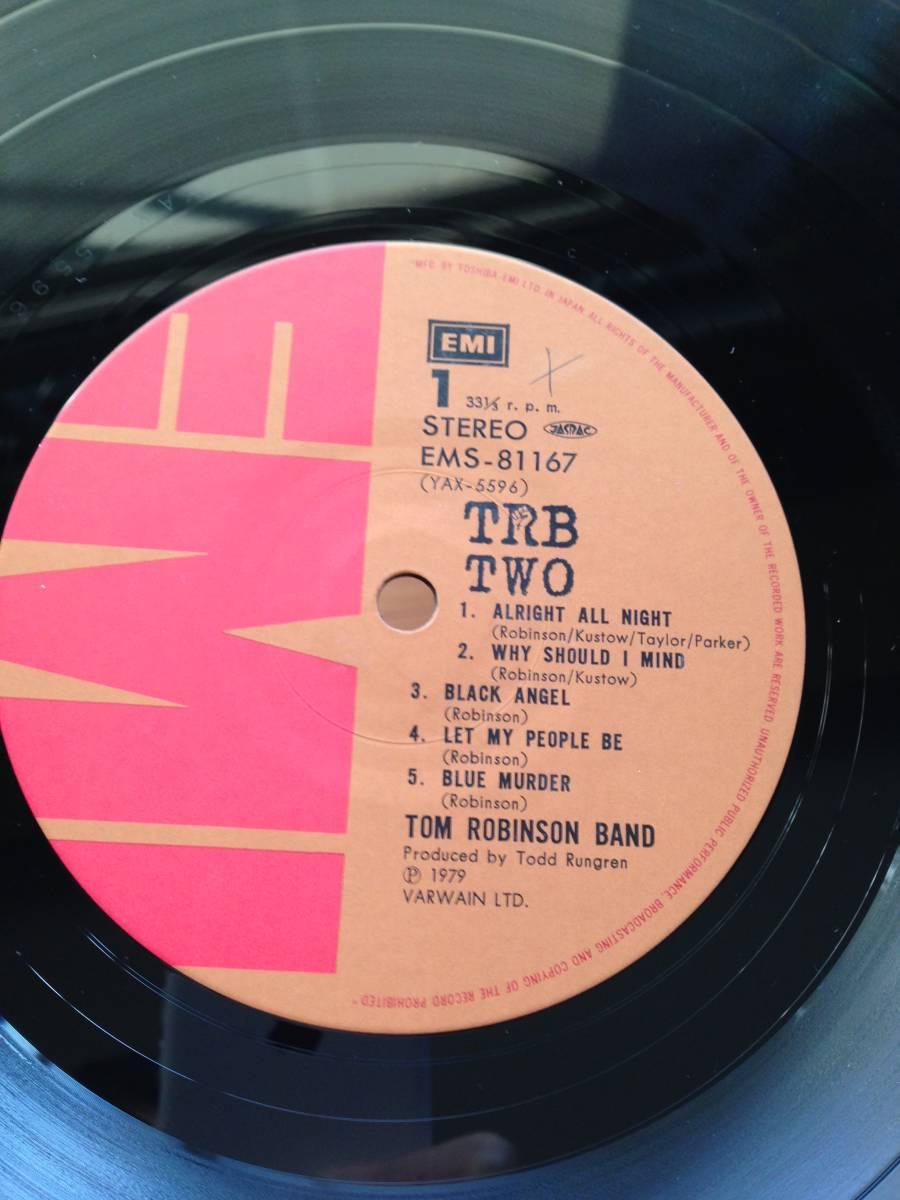 国内盤LP TOM ROBINSON BAND TRB TWO トムロビンソンバンド 2 /トッドラングレン・プロデュース TODD RUNDGREN 初期 punk power pop_画像4