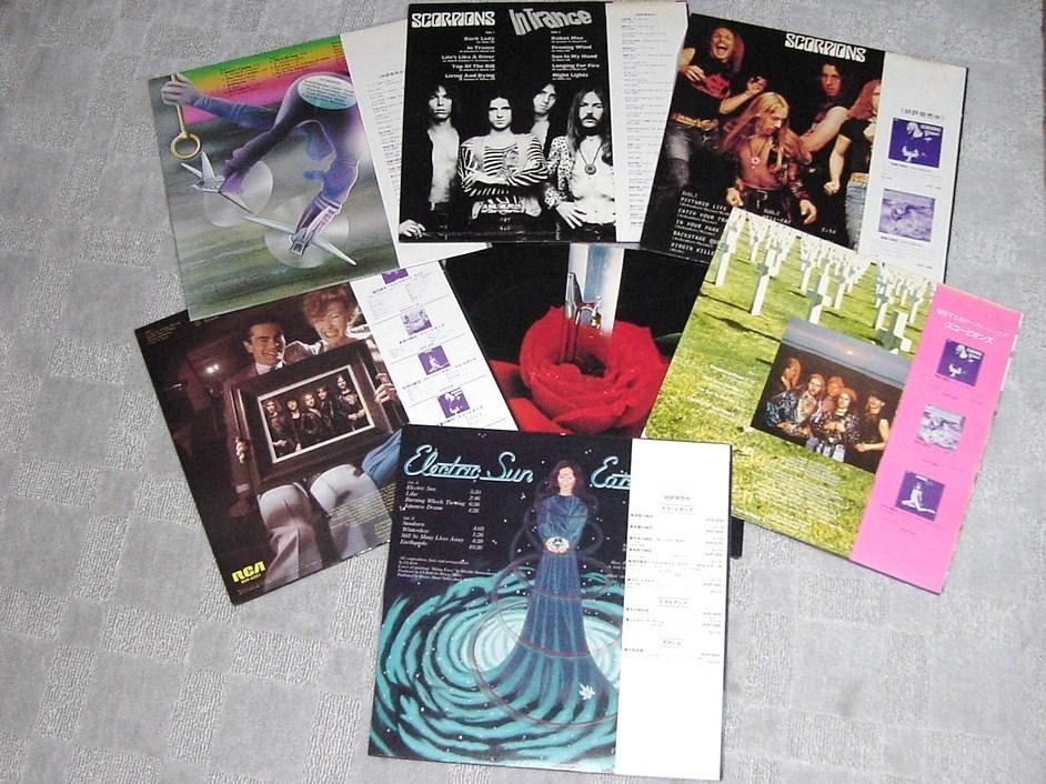 ▲▽スコーピオンズ 電撃の蠍団~ラヴドライブ LPレコード 6タイトルとウルリッヒ・ロート1枚△▼_画像2
