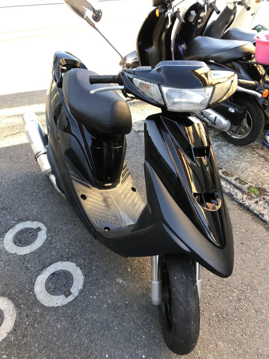(436)<売り切り!&カスタム車両!&最強エンジン!> YAMAHA / ヤマハ スーパーJOG ZR 3YK型 ブラック 整備・点検済み_画像3