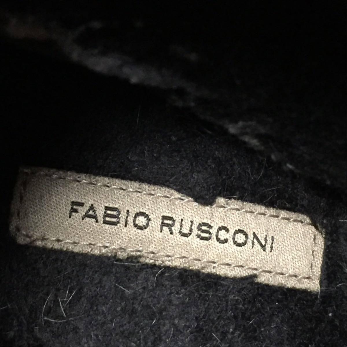 ◆FABIO RUSCONI◆内側ボア スウェード ショートブーツ ブーティー ブラウン ファビオルスコーニ イタリア製 ムートン系 23cm位 7cmヒール_画像7