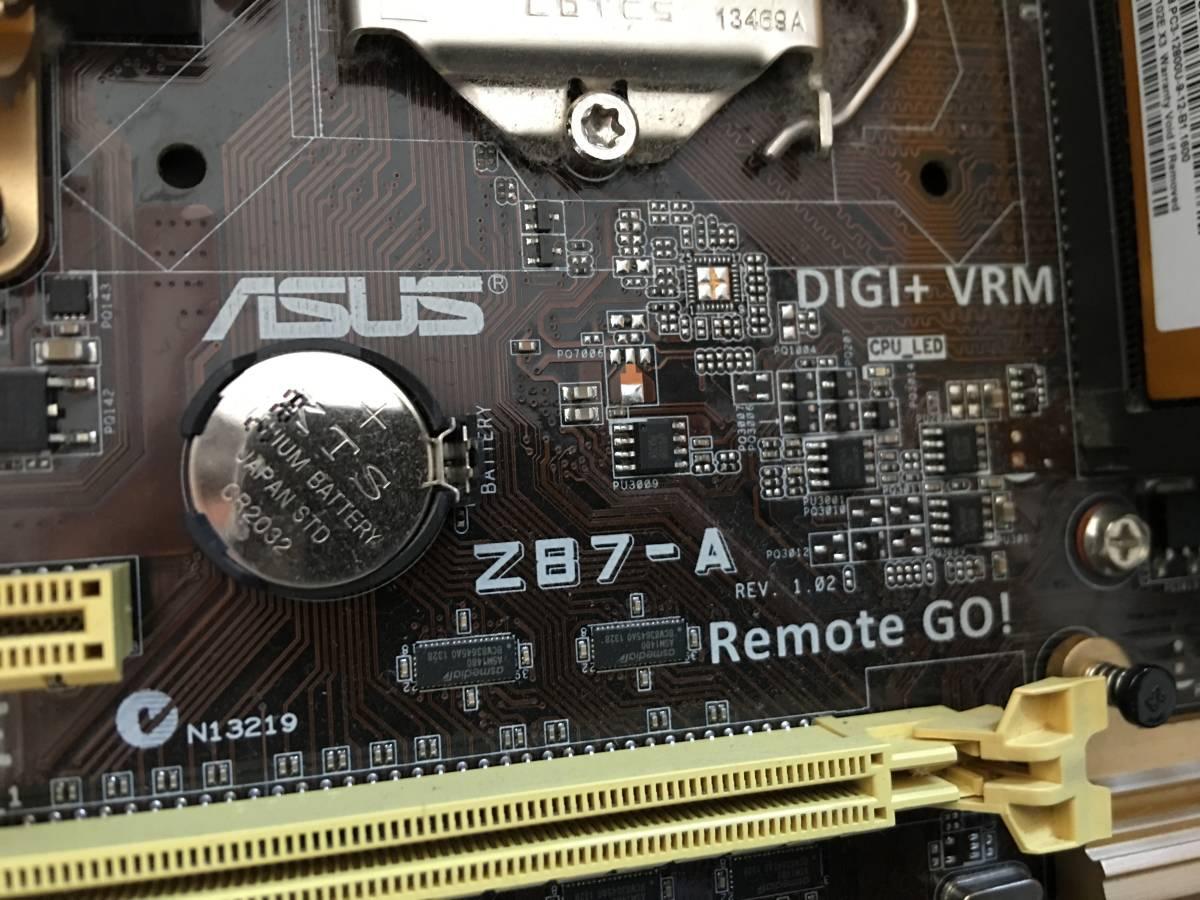 自作 ASUS Z87-A Core i7-4770 SR149 3.40GHZ/ 16GBメモリ / HDDなし / 動作未確認_画像7