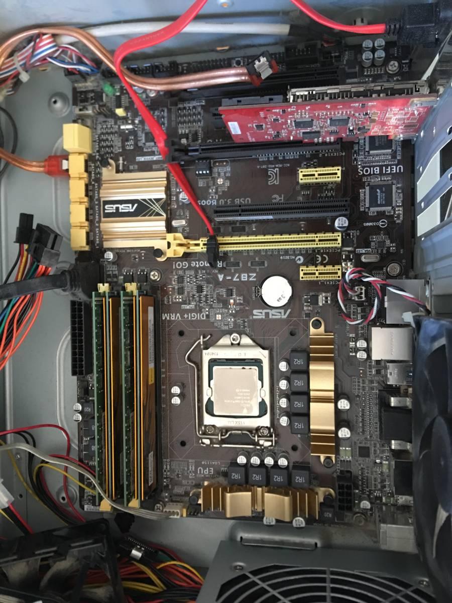 自作 ASUS Z87-A Core i7-4770 SR149 3.40GHZ/ 16GBメモリ / HDDなし / 動作未確認_画像5