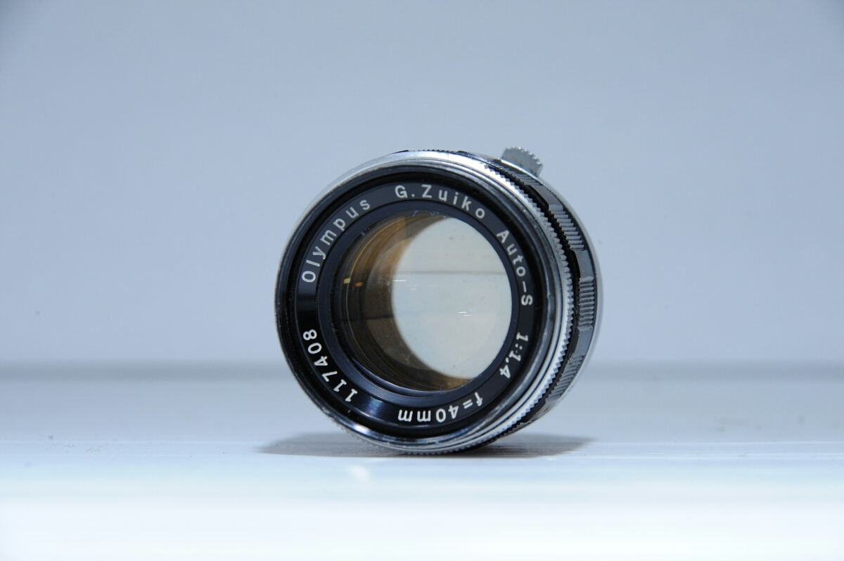 オリンパス OLYMPUS 初代 ペンf PEN-f ズイコー G.Zuiko Auto-S 40mm f1.4 / ジャンク_画像9