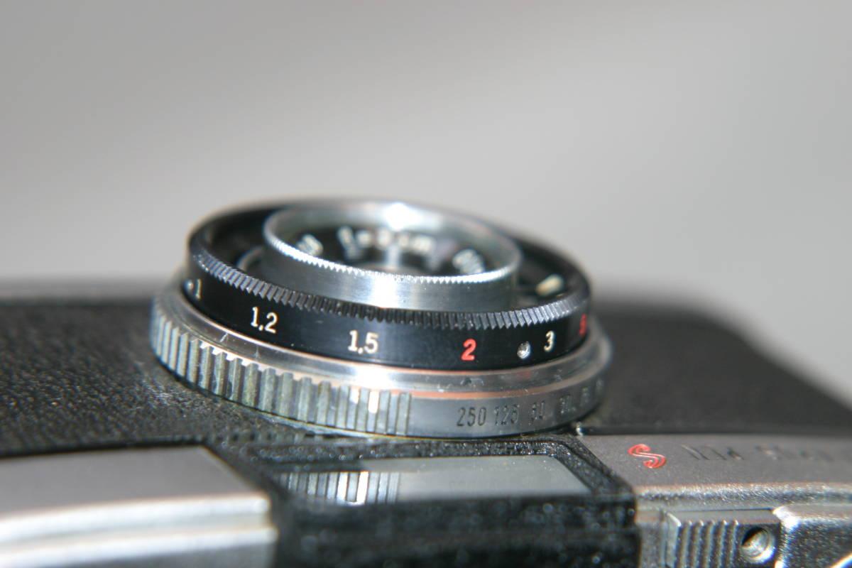 オリンパス ペンS PEN-S 1:2.8 f=3cm 整備済 モルト張替済 レンズキャップ・ストラップ付_画像9