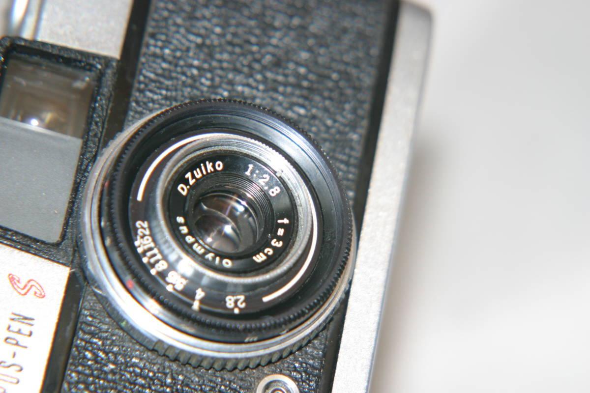 オリンパス ペンS PEN-S 1:2.8 f=3cm 整備済 モルト張替済 レンズキャップ・ストラップ付_画像8