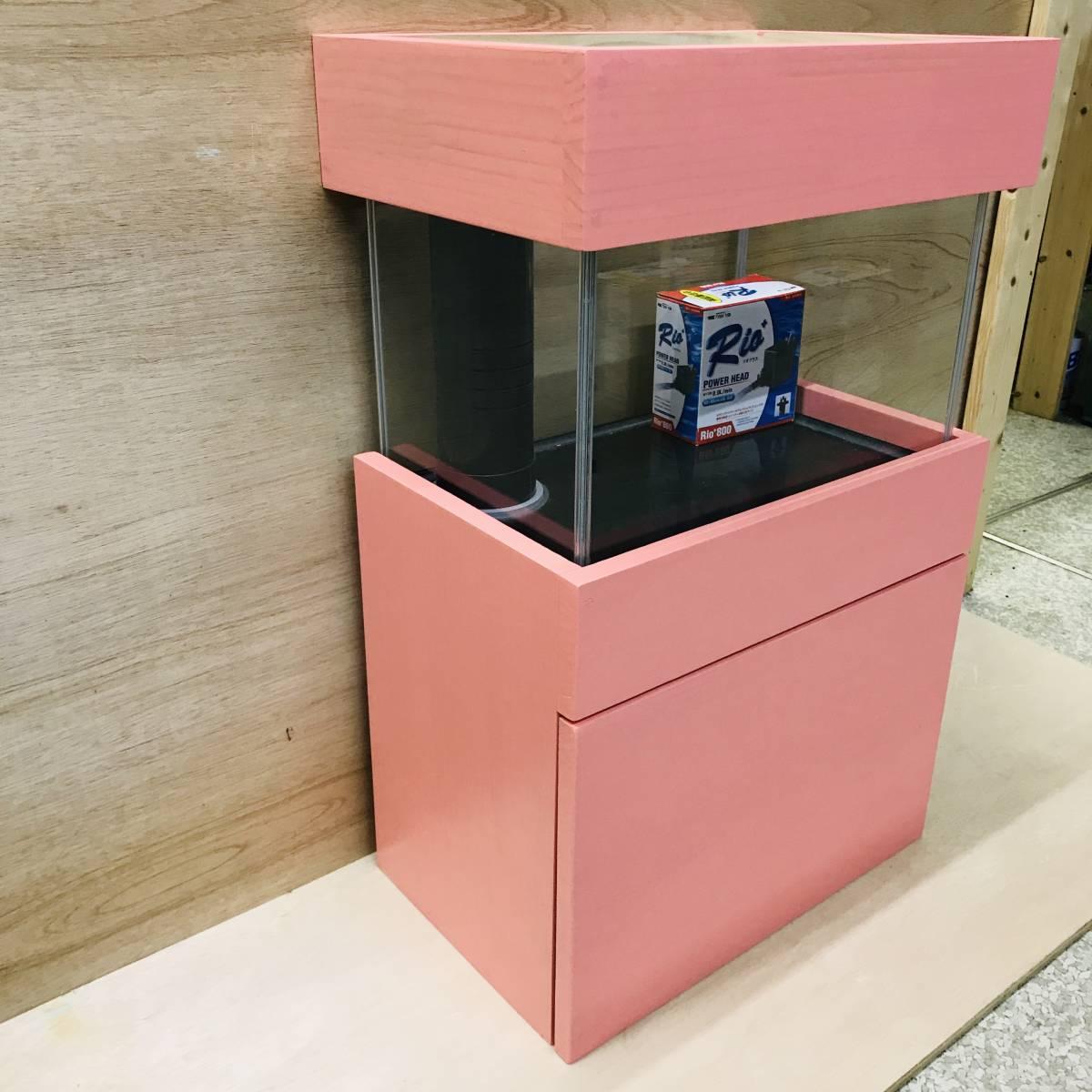 《100円スタート》アクア小型オーバーフロー水槽セット ピンク 新品 rio800 濾過槽、台ろ材セット 小型水槽/アクア/海水魚 ピンク_画像2