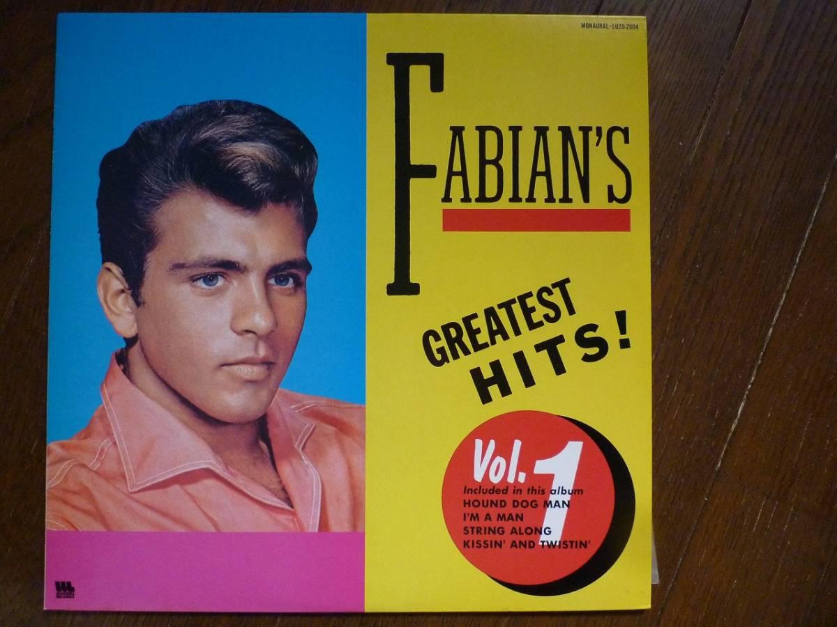 LP☆ Fabian's Greatest Hits Vol.1 ファビアン ☆Kissin' And Twistin' , Hound Dog Man, String Along, Lilly Lou _画像1