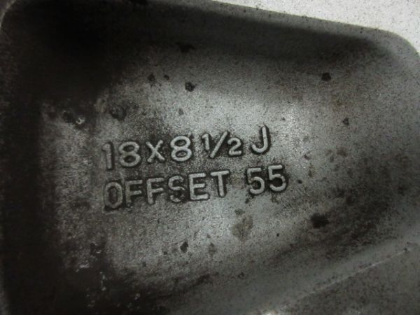中古 スタッドレスタイヤ ホイールセット 18インチ 8.5J +55 PCD 114.3 5穴 再塗装 245/40R18 1台分 インプレッサ WRX STI 純正 ノーマル_画像7