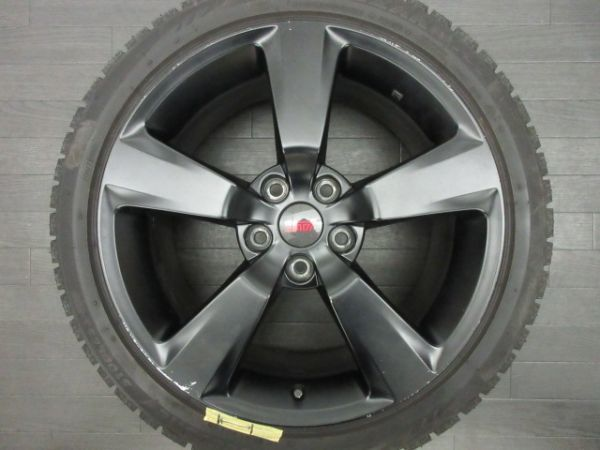中古 スタッドレスタイヤ ホイールセット 18インチ 8.5J +55 PCD 114.3 5穴 再塗装 245/40R18 1台分 インプレッサ WRX STI 純正 ノーマル_画像4