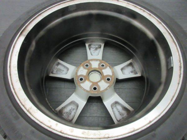 中古 スタッドレスタイヤ ホイールセット 18インチ 8.5J +55 PCD 114.3 5穴 再塗装 245/40R18 1台分 インプレッサ WRX STI 純正 ノーマル_画像6