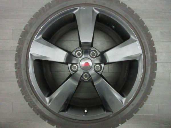 中古 スタッドレスタイヤ ホイールセット 18インチ 8.5J +55 PCD 114.3 5穴 再塗装 245/40R18 1台分 インプレッサ WRX STI 純正 ノーマル_画像5