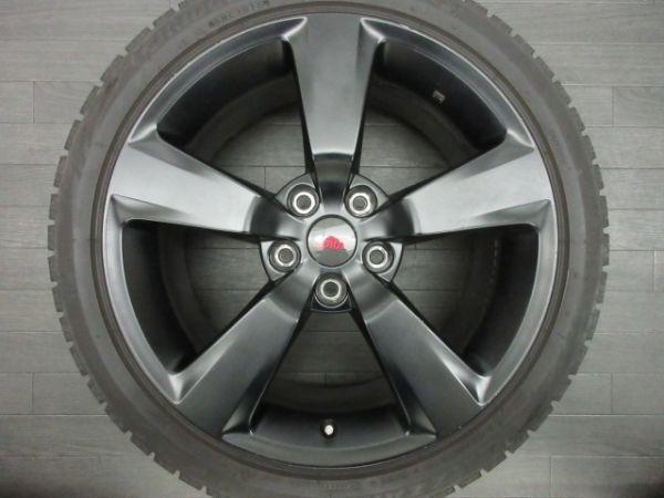 中古 スタッドレスタイヤ ホイールセット 18インチ 8.5J +55 PCD 114.3 5穴 再塗装 245/40R18 1台分 インプレッサ WRX STI 純正 ノーマル_画像3