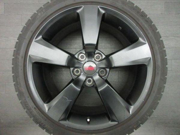 中古 スタッドレスタイヤ ホイールセット 18インチ 8.5J +55 PCD 114.3 5穴 再塗装 245/40R18 1台分 インプレッサ WRX STI 純正 ノーマル_画像2