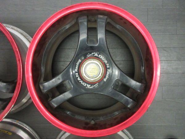 ジャンク品 未洗浄 ヨコハマ スーパーアドバン SA3R 17インチ 8J +35 9J +42 PCD 114.3 5穴 1台分 当時物 ドリ車_画像3