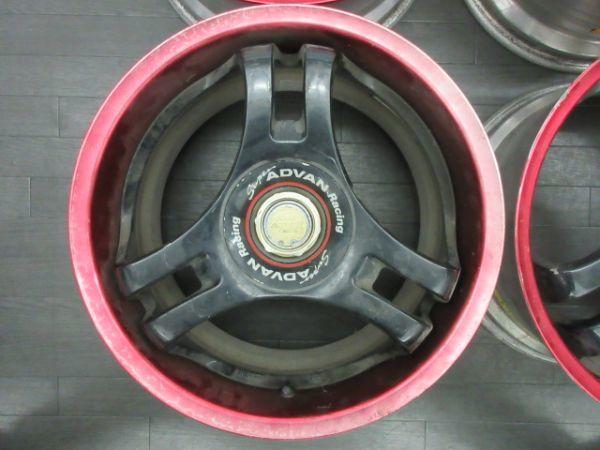 ジャンク品 未洗浄 ヨコハマ スーパーアドバン SA3R 17インチ 8J +35 9J +42 PCD 114.3 5穴 1台分 当時物 ドリ車_画像5