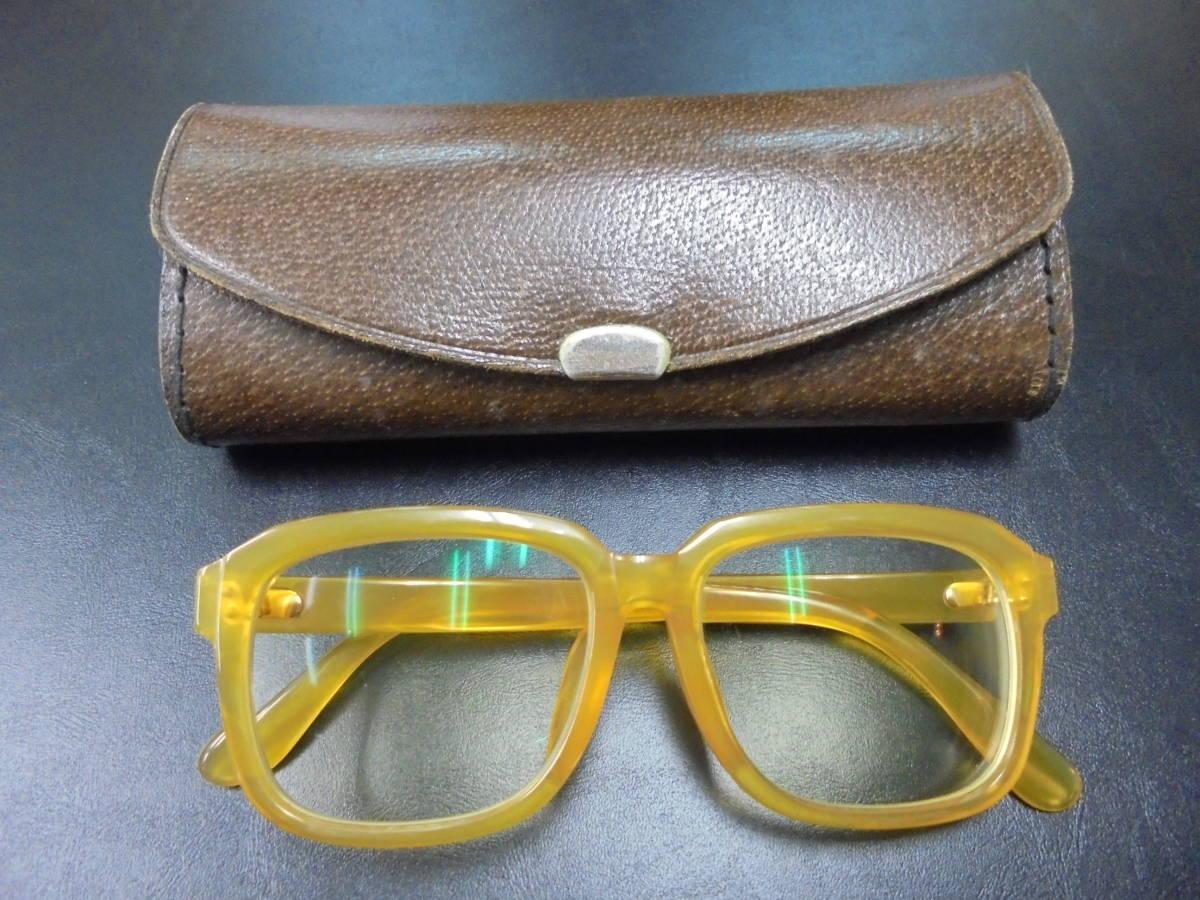 百貨店オーダー 本鼈甲 べっ甲 白甲 眼鏡 メガネ K18刻印 重量41.8g べっこう ベッコウ